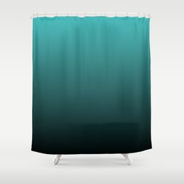Teal Black Ombre Shower Curtain