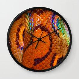 Rainbow Boa Wall Clock