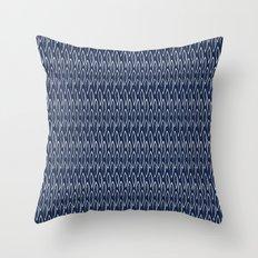 Indigo Leaves Throw Pillow
