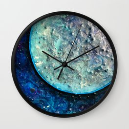 Wandering Moon Wall Clock