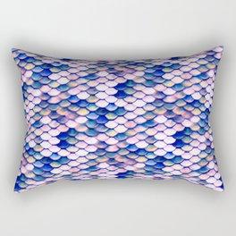 Rose Mermaid Skin Pattern Rectangular Pillow
