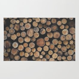 Wooden background Rug