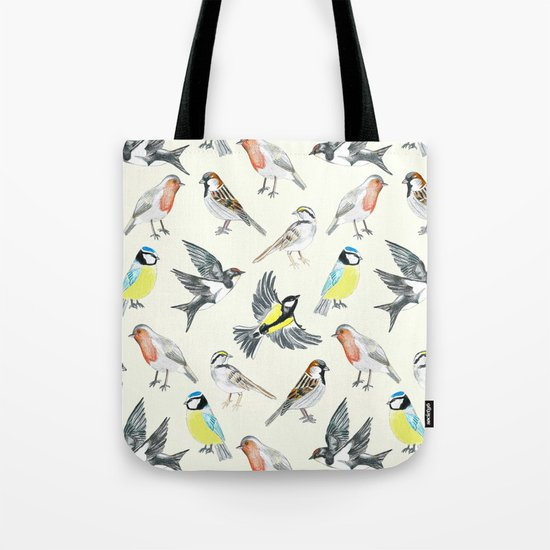 Illustrated Birds Tote Bag