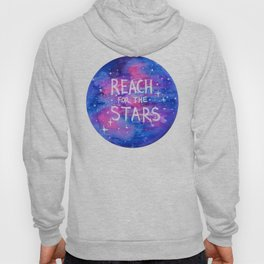 Reach For The Stars Galaxy Watercolor Hoody
