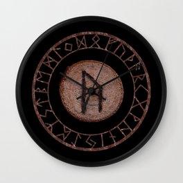 Uruz Elder Futhark Rune determination, persistence, freedom, courage, will, territoriality Wall Clock