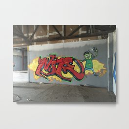 Graffiti in abandon warehouse Metal Print