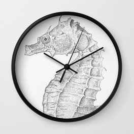 Vintage Seahorse Illustration (1907) Wall Clock