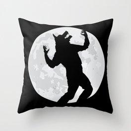 Lunar Lycan Throw Pillow