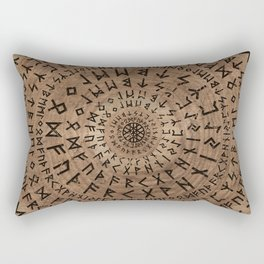 Elder Futhark Circular Composition Rectangular Pillow