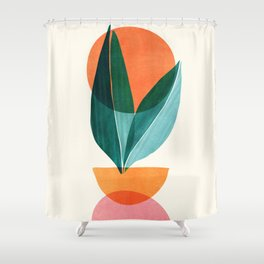 Nature Stack II / Abstract Shapes Illustration Shower Curtain