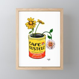 Coffee and Flowers for Breakfast Framed Mini Art Print