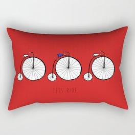 Lets Ride Rectangular Pillow