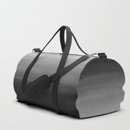 Touching Black Gray White Watercolor Abstract #1 #painting #decor #art #society6 Duffle Bag