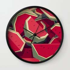 Too many watermelons Wall Clock