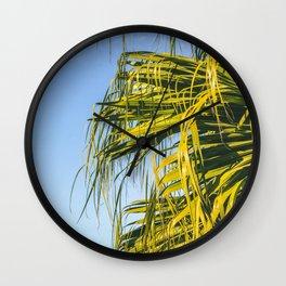 Puerto Rico Palm Tree Wall Clock