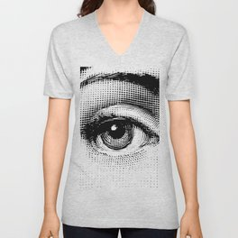 Lina Cavalieri - right eye Unisex V-Neck