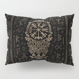 Vegvisir - Viking Compass on Futhark pattern Pillow Sham
