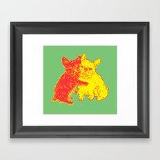 <3 Doggies Framed Art Print