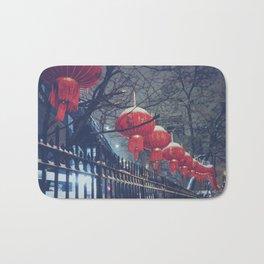 Red Lanterns in Chinatown, NYC Bath Mat