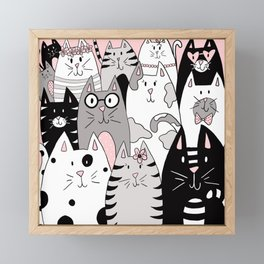 Cool Cats Framed Mini Art Print