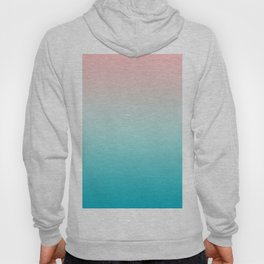 Pastel Ombre Millennial Pink Blue Teal Gradient Pattern Hoody