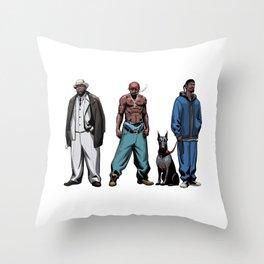 Legendary Rappers Throw Pillow