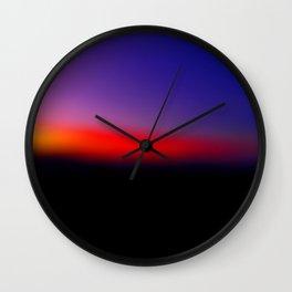 Bokeh sunrise Wall Clock