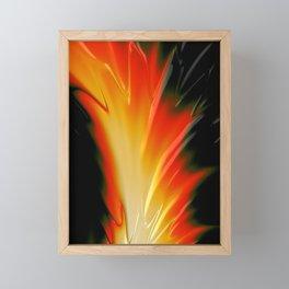 FLAME yellow orange red bonfire Framed Mini Art Print