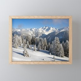 Courchevel 3 Valleys French Alps France Framed Mini Art Print
