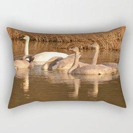 Trumpeter Swan Family Rectangular Pillow