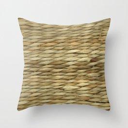 Weaved texture Throw Pillow