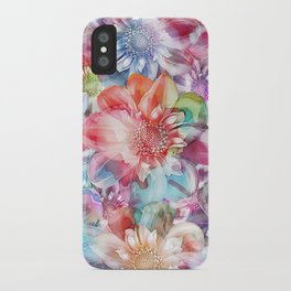 Spring Flowers on Painted Background iPhone Case