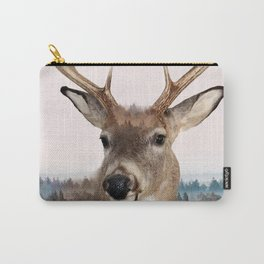 Whitetail Deer Double Exposure Carry-All Pouch