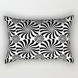 Black Twirl Rectangular Pillow