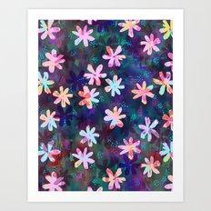 Montauk Daisy - Night Art Print