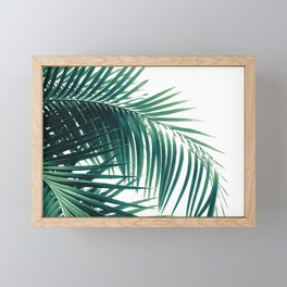 Palm Leaves Green Vibes #6 #tropical #decor #art #society6 Framed Mini Art Print