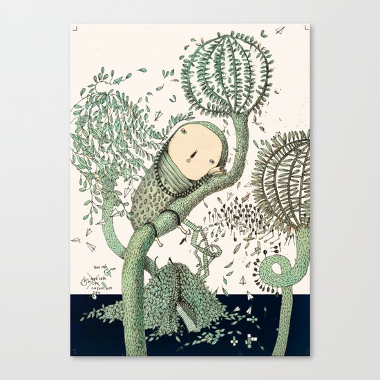 My Green Memory Canvas Print