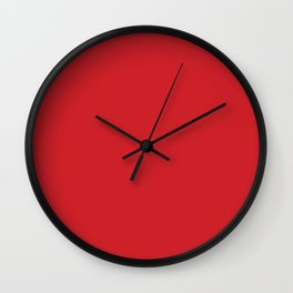 Flame Scarlet Wall Clock