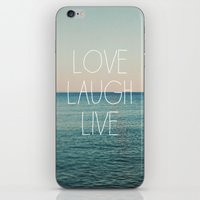 Love Laugh Live #2 iPhone & iPod Skin