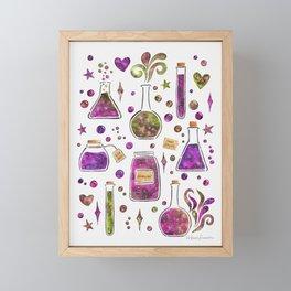 Galaxy Potions - Magenta Palette Framed Mini Art Print