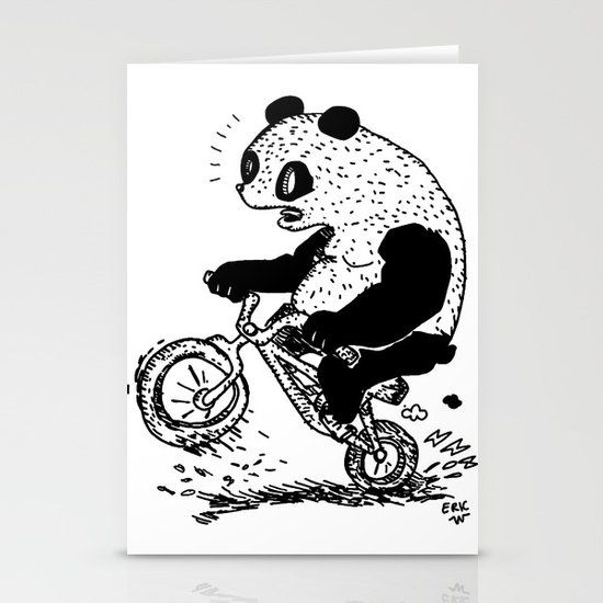 Dirt Jump Panda Stationery Cards