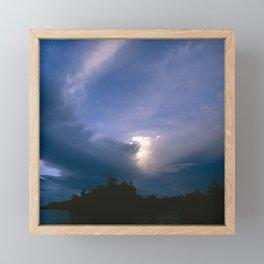 Ray of Hope in the Stormy Sky Framed Mini Art Print