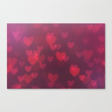 Neon Valentine Canvas Print