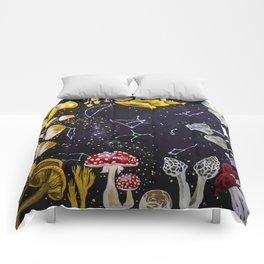 Mushrooms and Stars Comforters