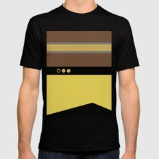 Geordie La Forge - Minimalist Star Trek TNG The Next Generation - 1701 D startrek Trektangles MEDIUM Mens Fitted Tee Black