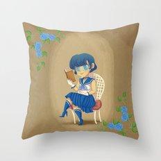 Retro Sailor Mercury Throw Pillow