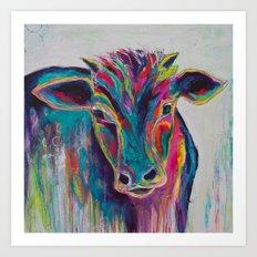 Texas Cow Art Print