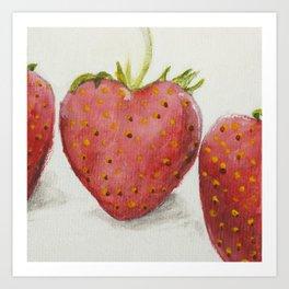 Tasty Summer Strawberry Print Art Work Art Print