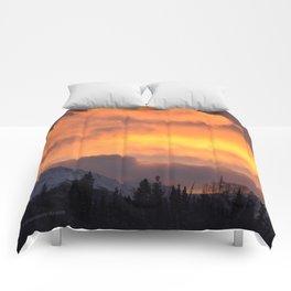 Sunrise Behind Chugach Mts ~ II Comforters