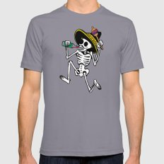 DANCING CALAVERA  Slate LARGE Mens Fitted Tee